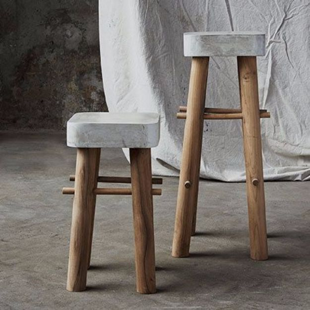 diy barstools - DIY Concrete Bar Stools - Easy and Cheap Ideas for Seating and Creative Home Decor - Do It Yourself Bar Stools for Modern, Rustic, Farmhouse, Shabby Chic, Industrial and Simple Classic Decor #barstools #diy