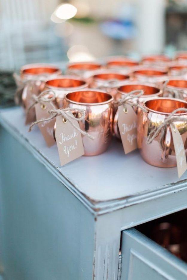 DIY Wedding Favors - DIY Copper Mug Favors - Do It Yourself Ideas for Brides and Best Wedding Favor Ideas for Weddings - cheap wedding favor ideas #wedding #diy