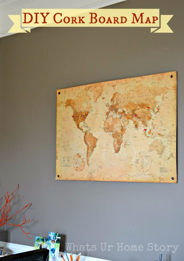 50 incredible mancave decor ideas that are something close to genius diy mancave decor ideas diy cork board map step by step tutorials and do solutioingenieria Images