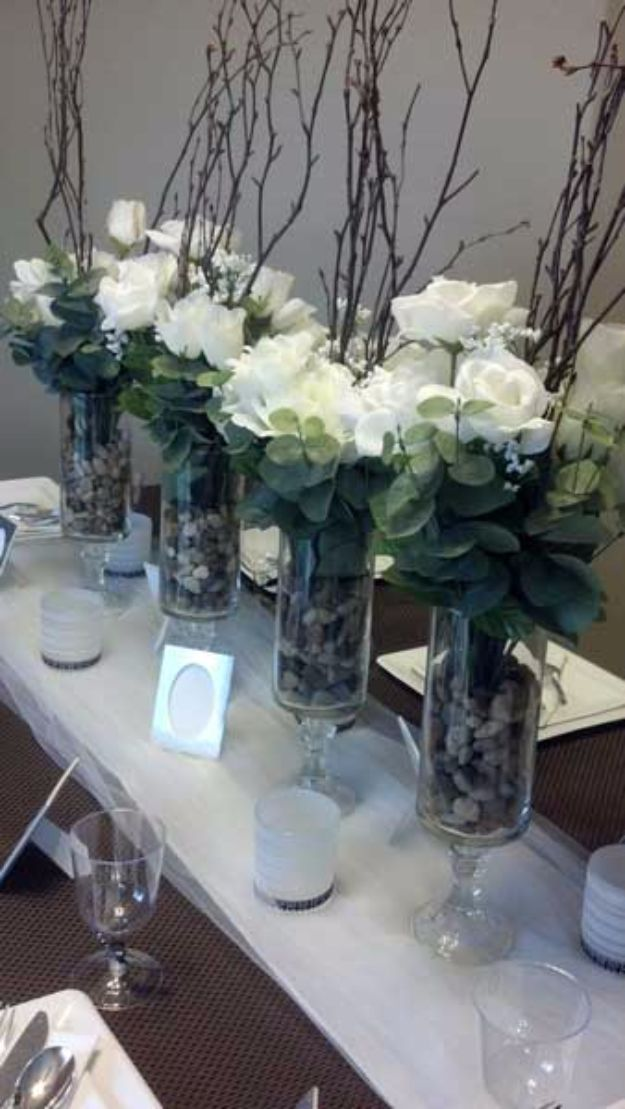 DIY Wedding Centerpieces - DIY Elegant Dollar Store Centerpiece - Do It Yourself Ideas for Brides and Best Centerpiece Ideas for Weddings - Step by Step Tutorials for Making Mason Jars, Rustic Crafts, Flowers, Modern Decor, Vintage and Cheap Ideas for Couples on A Budget Outdoor and Indoor Weddings http://diyjoy.com/diy-wedding-centerpieces