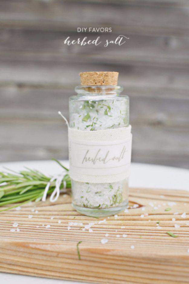 DIY Wedding Favors - DIY Herbed Salt - Do It Yourself Ideas for Brides and Best Wedding Favor Ideas for Weddings - cheap wedding favor ideas #wedding #diy