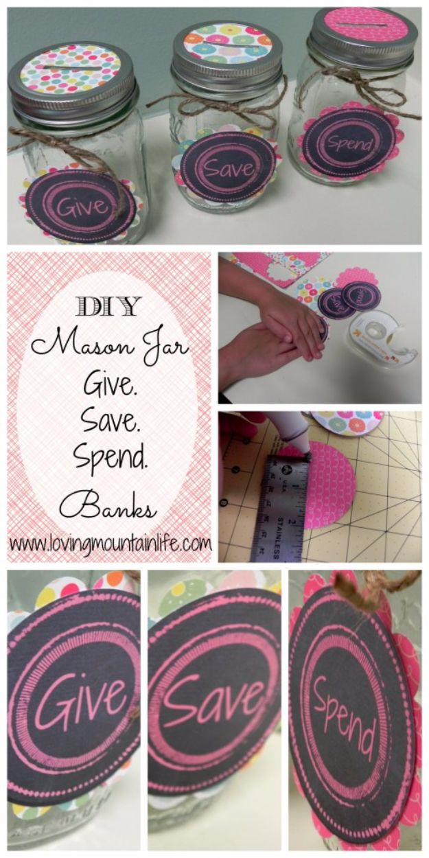 Free Printables for Mason Jars - DIY Mason Jar Piggy Banks And Free Printables - Best Ideas for Tags and Printable Clip Art for Fun Mason Jar Gifts and Organization#masonjar #crafts #printables