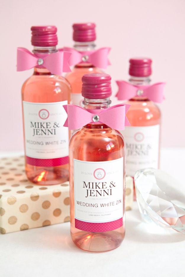 DIY Wedding Favors - DIY Mini Wine Bottle Favors - Do It Yourself Ideas for Brides and Best Wedding Favor Ideas for Weddings - cheap wedding favor ideas #wedding #diy