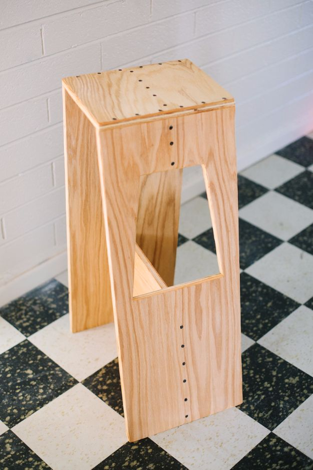 diy barstools - DIY Modern Stool - Easy and Cheap Ideas for Seating and Creative Home Decor - Do It Yourself Bar Stools for Modern, Rustic, Farmhouse, Shabby Chic, Industrial and Simple Classic Decor #barstools #diy