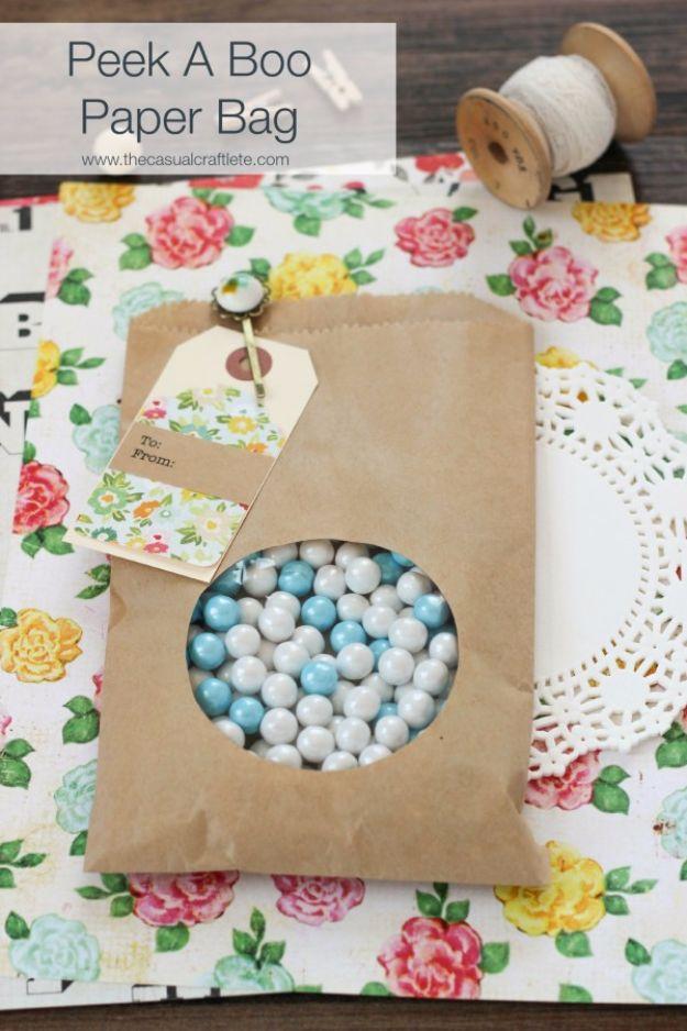 DIY Wedding Favors - DIY Peek A Boo Paper Bag - Do It Yourself Ideas for Brides and Best Wedding Favor Ideas for Weddings - cheap wedding favor ideas #wedding #diy