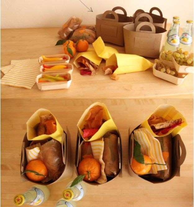 DIY Picnic Ideas - DIY Picnic Baskets - Cool Recipes and Tips for Picnics and Meals Outdoors - Recipes, Easy Sandwich Wraps, Blankets, Baskets and Carriers to Make for Fun Family Outings and Romantic Date Ideas - Mason Jar Drinks, Snack Holders, Utensil Caddy and Picnic Hacks