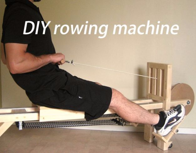 DIY Exercise Equipment Projects - DIY Rowing Machine - Homemade Weights and Strength Training Projects - How To Build Simple and Easy Fitness Equipment, Yoga Mats, PVC Pipe Ideas for Butt Workouts, Strength Training and Do It Yourself Workouts At Home t