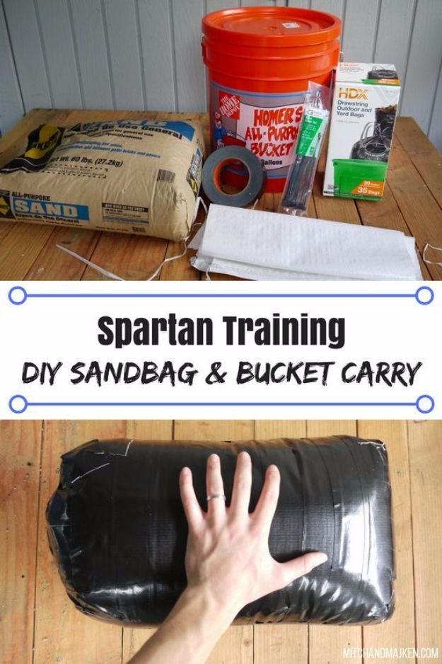 DIY Exercise Equipment Projects - DIY Sandbag And Bucket Carry - Homemade Weights and Strength Training Projects - How To Build Simple and Easy Fitness Equipment, Yoga Mats, PVC Pipe Ideas for Butt Workouts, Strength Training and Do It Yourself Workouts At Home t