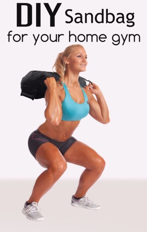 DIY Exercise Equipment Projects - DIY Sandbag For Your Home Gym - Homemade Weights and Strength Training Projects - How To Build Simple and Easy Fitness Equipment, Yoga Mats, PVC Pipe Ideas for Butt Workouts, Strength Training and Do It Yourself Workouts At Home t
