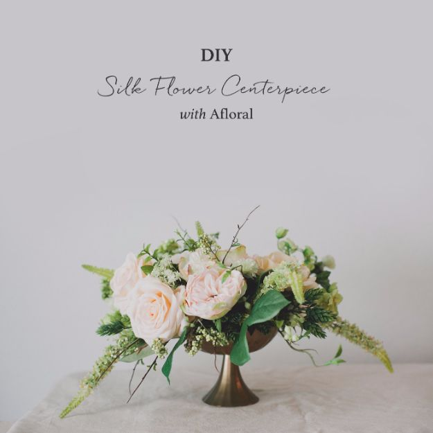 DIY Wedding Centerpieces - DIY Silk Flower Centerpiece - Do It Yourself Ideas for Brides and Best Centerpiece Ideas for Weddings - Step by Step Tutorials for Making Mason Jars, Rustic Crafts, Flowers, Modern Decor, Vintage and Cheap Ideas for Couples on A Budget Outdoor and Indoor Weddings http://diyjoy.com/diy-wedding-centerpieces