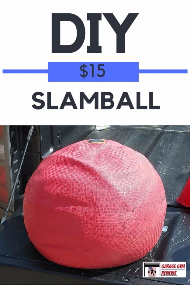 DIY Exercise Equipment Projects - DIY Slamball - Homemade Weights and Strength Training Projects - How To Build Simple and Easy Fitness Equipment, Yoga Mats, PVC Pipe Ideas for Butt Workouts, Strength Training and Do It Yourself Workouts At Home t