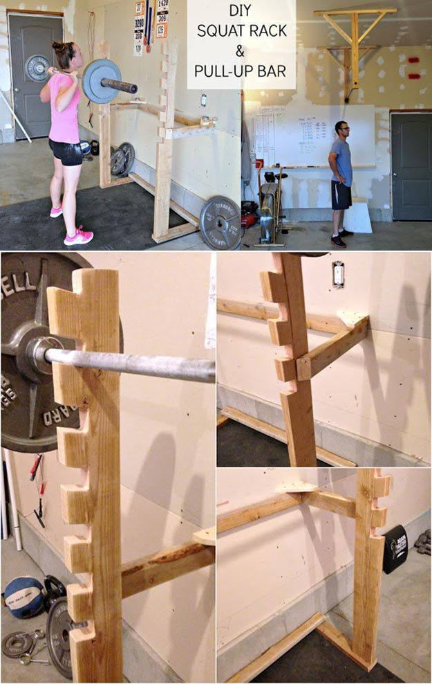 30 cool diy exercise equipment projects you can make for your home diy exercise equipment projects diy squat rack and pull up bar homemade weights and solutioingenieria Choice Image