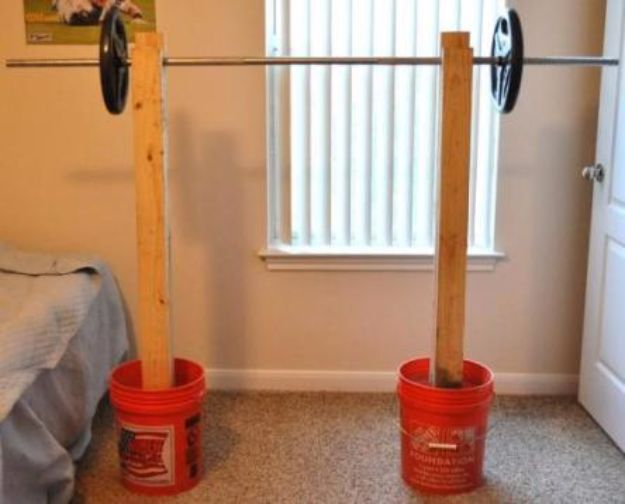 DIY Exercise Equipment Projects - DIY Squat Rack - Homemade Weights and Strength Training Projects - How To Build Simple and Easy Fitness Equipment, Yoga Mats, PVC Pipe Ideas for Butt Workouts, Strength Training and Do It Yourself Workouts At Home t