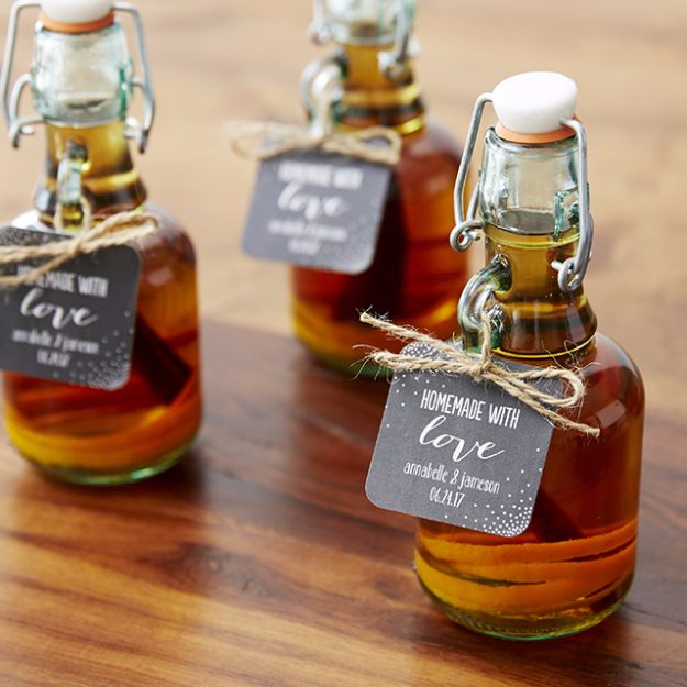 DIY Wedding Favors - DIY Whiskey Bottle Favors - Do It Yourself Ideas for Brides and Best Wedding Favor Ideas for Weddings - cheap wedding favor ideas #wedding #diy