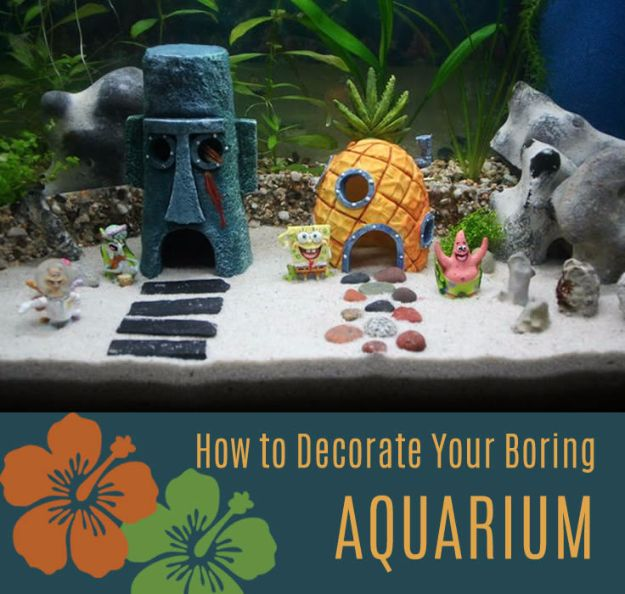 DIY Aquarium Ideas - Decorate Boring Fish Tank - Cool and Easy Decorations for Tank Aquariums, Mason Jar, Wall and Stand Projects for Fish - Creative Background Ideas - Fun Tutorials for Kids to Make With Plants and Decor - Best Home Decor and Crafts by DIY JOY