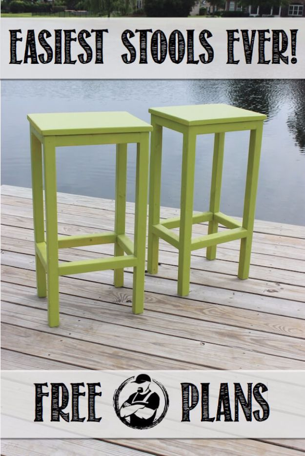 diy barstools - Easy DIY Bar Stools - Easy and Cheap Ideas for Seating and Creative Home Decor - Do It Yourself Bar Stools for Modern, Rustic, Farmhouse, Shabby Chic, Industrial and Simple Classic Decor #barstools #diy