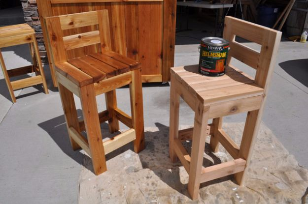 diy barstools - Easy Wooden Bar Stools - Easy and Cheap Ideas for Seating and Creative Home Decor - Do It Yourself Bar Stools for Modern, Rustic, Farmhouse, Shabby Chic, Industrial and Simple Classic Decor #barstools #diy