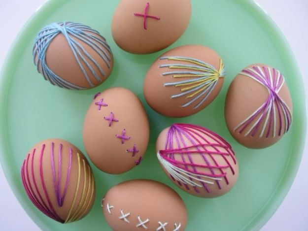 Free Embroidery Patterns - Embroidered Eggs - Best Embroidery Projects and Step by Step DIY Tutorials for Making Home Decor, Wall Art, Pillows and Creative Handmade Sewing Gifts embroidery gifts diy ideas