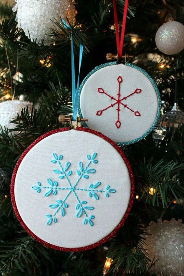 Free Embroidery Patterns - Embroidered Snowflake - Best Embroidery Projects and Step by Step DIY Tutorials for Making Home Decor, Wall Art, Pillows and Creative Handmade Sewing Gifts embroidery gifts diy ideas