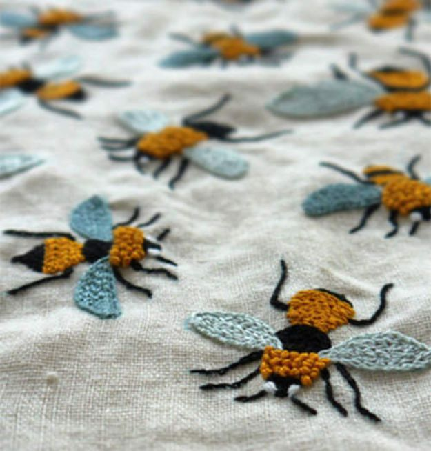 Free Embroidery Patterns - Embroidery Inspired By Nature - Best Embroidery Projects and Step by Step DIY Tutorials for Making Home Decor, Wall Art, Pillows and Creative Handmade Sewing Gifts embroidery gifts diy ideas