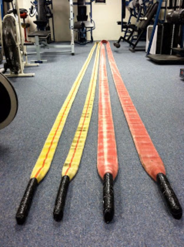 DIY Exercise Equipment Projects - Fire Hose Battle Ropes - Homemade Weights and Strength Training Projects - How To Build Simple and Easy Fitness Equipment, Yoga Mats, PVC Pipe Ideas for Butt Workouts, Strength Training and Do It Yourself Workouts At Home t
