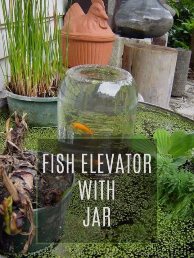 DIY Aquarium Ideas - Fish Tank Elevator - Cool and Easy Decorations for Tank Aquariums, Mason Jar, Wall and Stand Projects for Fish - Creative Background Ideas - Fun Tutorials for Kids to Make With Plants and Decor - Best Home Decor and Crafts by DIY JOY