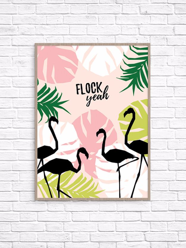 Best Free Printables For Your Walls - Flock Yeah Printable Wall Art - Free Prints for Wall Art and Picture to Print for Home and Bedroom Decor - Crafts to Make and Sell With Ideas for the Home, Organization #diy