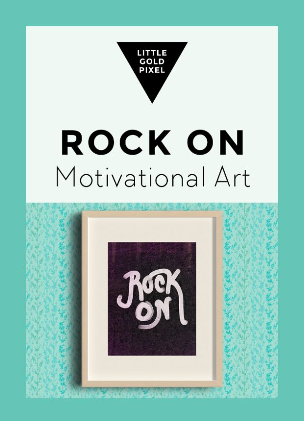Best Free Printables For Your Walls - Free Art Printable Rock On With Your Bad Self - Free Prints for Wall Art and Picture to Print for Home and Bedroom Decor - Crafts to Make and Sell With Ideas for the Home, Organization #diy
