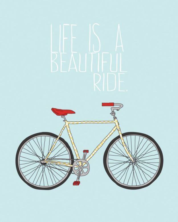 Best Free Printables For Your Walls - Free Bicycle Printable - Free Prints for Wall Art and Picture to Print for Home and Bedroom Decor - Crafts to Make and Sell With Ideas for the Home, Organization #diy