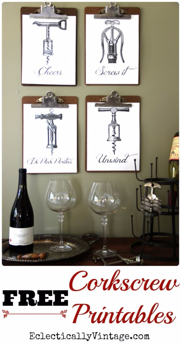 Best Free Printables For Your Walls - Free Corkscrew Printables - Free Prints for Wall Art and Picture to Print for Home and Bedroom Decor - Crafts to Make and Sell With Ideas for the Home, Organization #diy