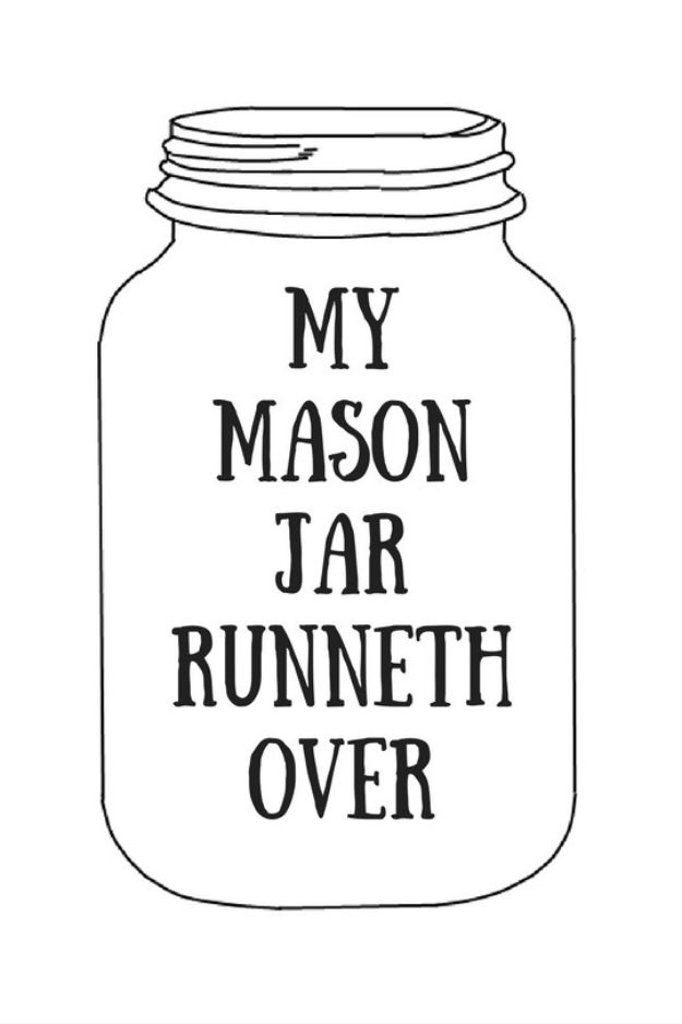 It is a picture of Remarkable Mason Jar Printable