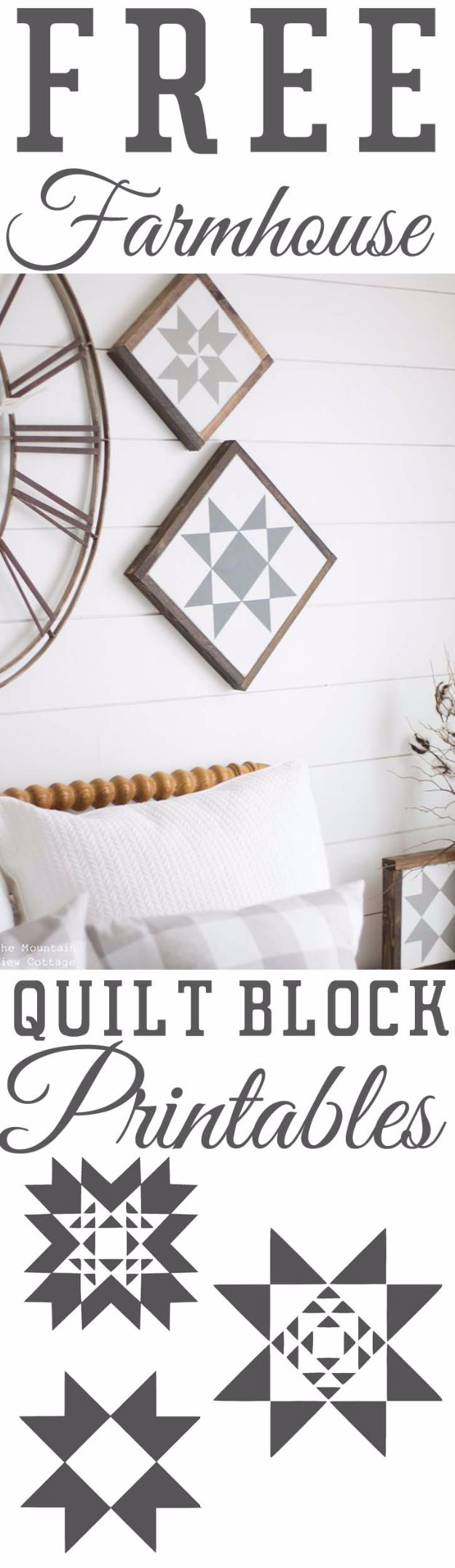 Free Printables For Your Walls - Free Farmhouse Quilt Block Printables - Best Free Prints for Wall Art and Picture to Print for Home and Bedroom Decor - Ideas for the Home, Organization - Quotes for Bedroom and Kitchens, Vintage Bathroom Pictures - Downloadable Printable for Kids - DIY and Crafts by DIY JOY http://diyjoy.com/free-printables-walls