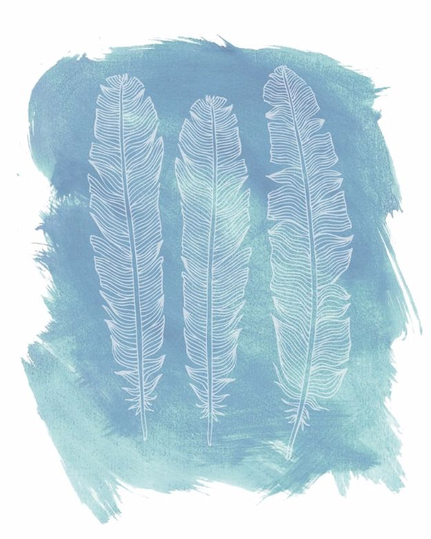 Best Free Printables For Your Walls - Free Feather Printables - Free Prints for Wall Art and Picture to Print for Home and Bedroom Decor - Crafts to Make and Sell With Ideas for the Home, Organization #diy