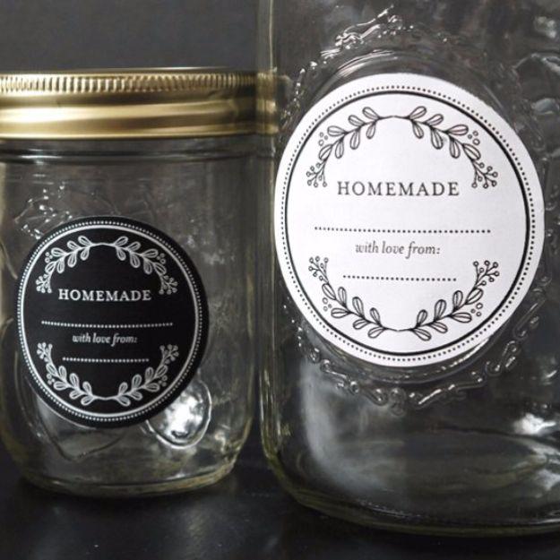 Free Printables for Mason Jars - Free Floral Mason Jar Template - Best Ideas for Tags and Printable Clip Art for Fun Mason Jar Gifts and Organization#masonjar #crafts #printables