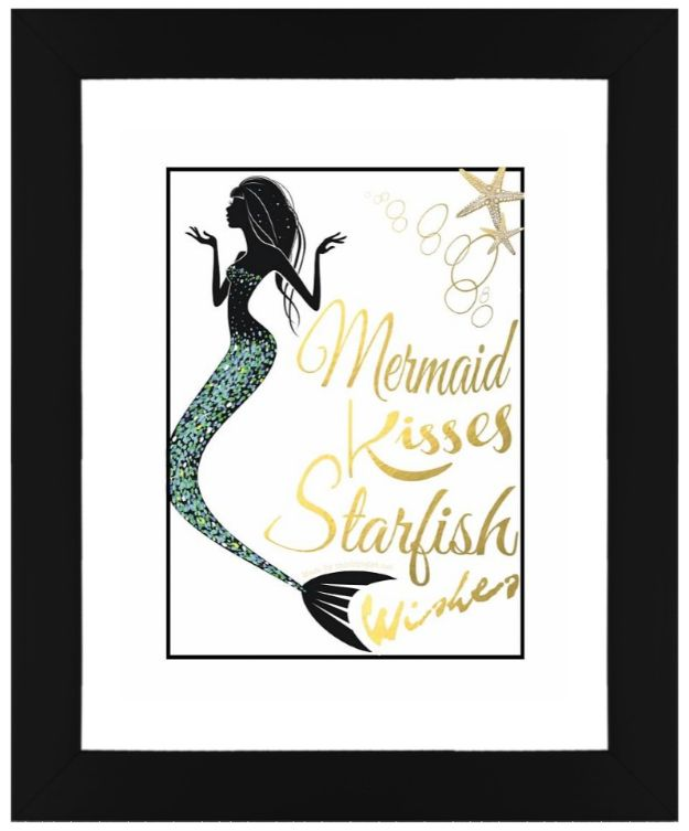 Best Free Printables For Your Walls - Free Mermaid Wall Art Printables - Free Prints for Wall Art and Picture to Print for Home and Bedroom Decor - Crafts to Make and Sell With Ideas for the Home, Organization #diy