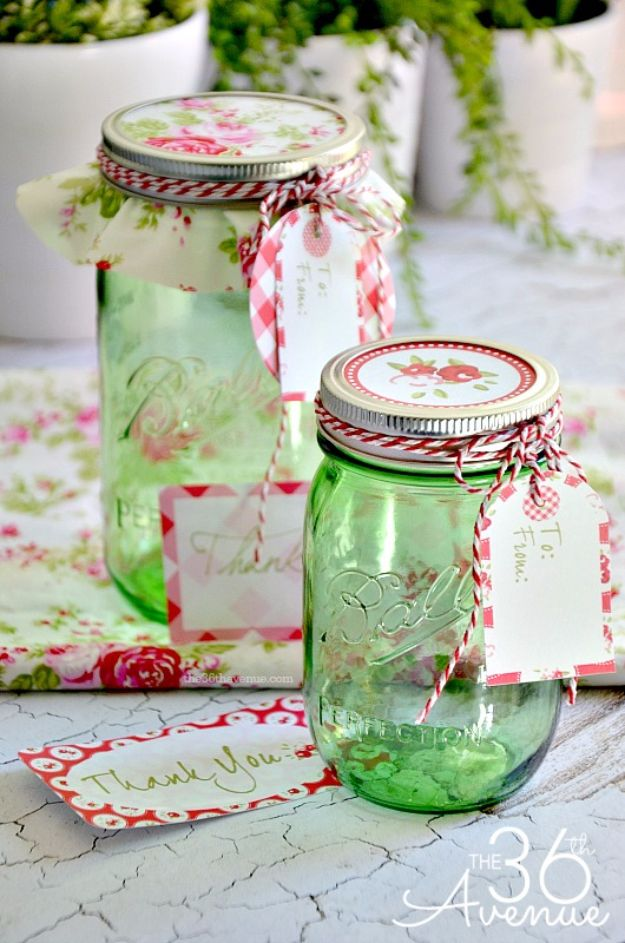 Free Printables for Mason Jars - Free Printable And Gift Jar Idea - Best Ideas for Tags and Printable Clip Art for Fun Mason Jar Gifts and Organization#masonjar #crafts #printables