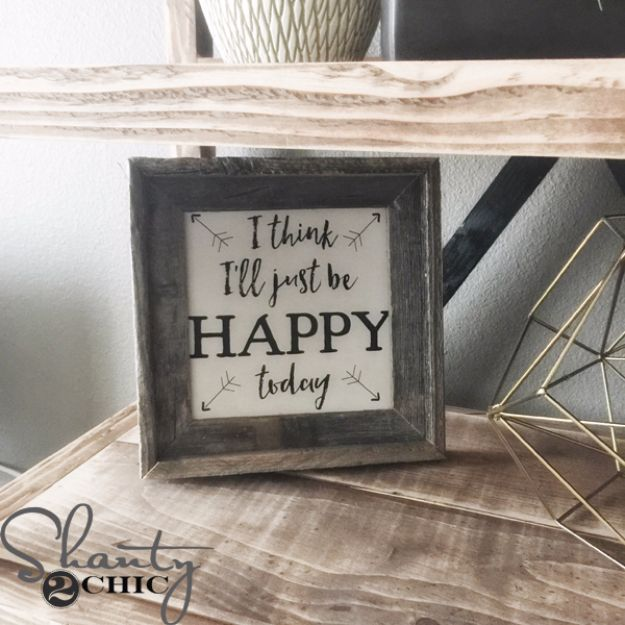 Best Free Printables For Your Walls - Free Printable – I think I'll Just be Happy Today - Free Prints for Wall Art and Picture to Print for Home and Bedroom Decor - Crafts to Make and Sell With Ideas for the Home, Organization #diy