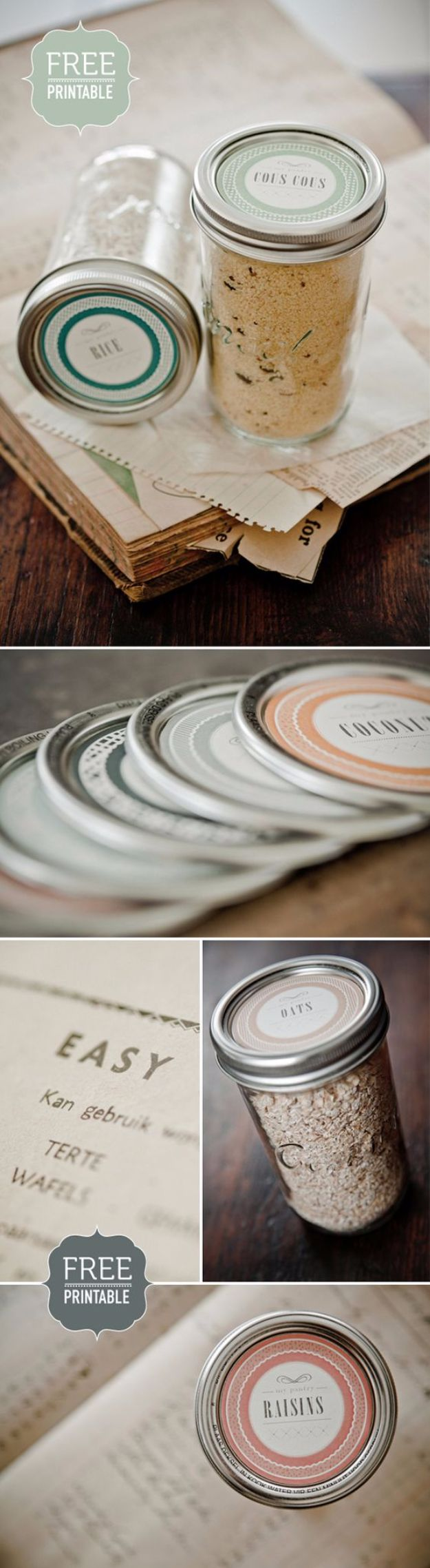 Mason Jar Pantry Labels