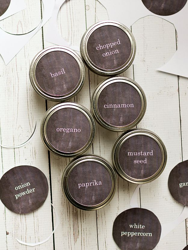 photo about Free Printable Mason Jar Lid Labels referred to as 31 Most straightforward Absolutely free Printables and Templates for Mason Jars