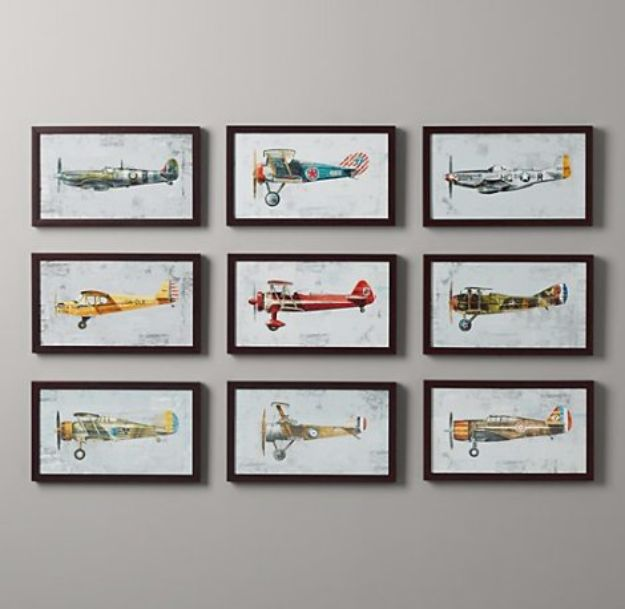 Best Free Printables For Your Walls - Free Printable Vintage Plane Art - Free Prints for Wall Art and Picture to Print for Home and Bedroom Decor - Crafts to Make and Sell With Ideas for the Home, Organization #diy