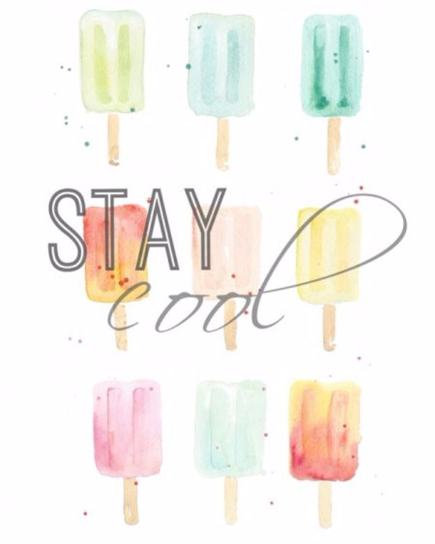 Free Printables For Your Walls - Free Watercolor Popsicle Printables - Best Free Prints for Wall Art and Picture to Print for Home and Bedroom Decor - Ideas for the Home, Organization - Quotes for Bedroom and Kitchens, Vintage Bathroom Pictures - Downloadable Printable for Kids - DIY and Crafts by DIY JOY http://diyjoy.com/free-printables-walls