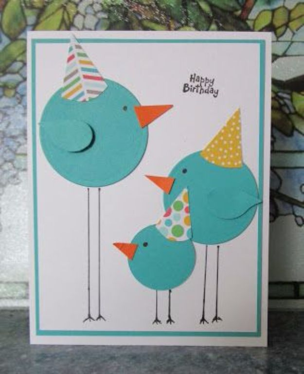 DIY Birthday Cards - Fun Birthday Card - Easy and Cheap Handmade Birthday Cards To Make At Home - Cute Card Projects With Step by Step Tutorials are Perfect for Birthdays for Mom, Dad, Kids and Adults - Pop Up and Folded Cards, Creative Gift Card Holders and Fun Ideas With Cake http://diyjoy.com/diy-birthday-cards