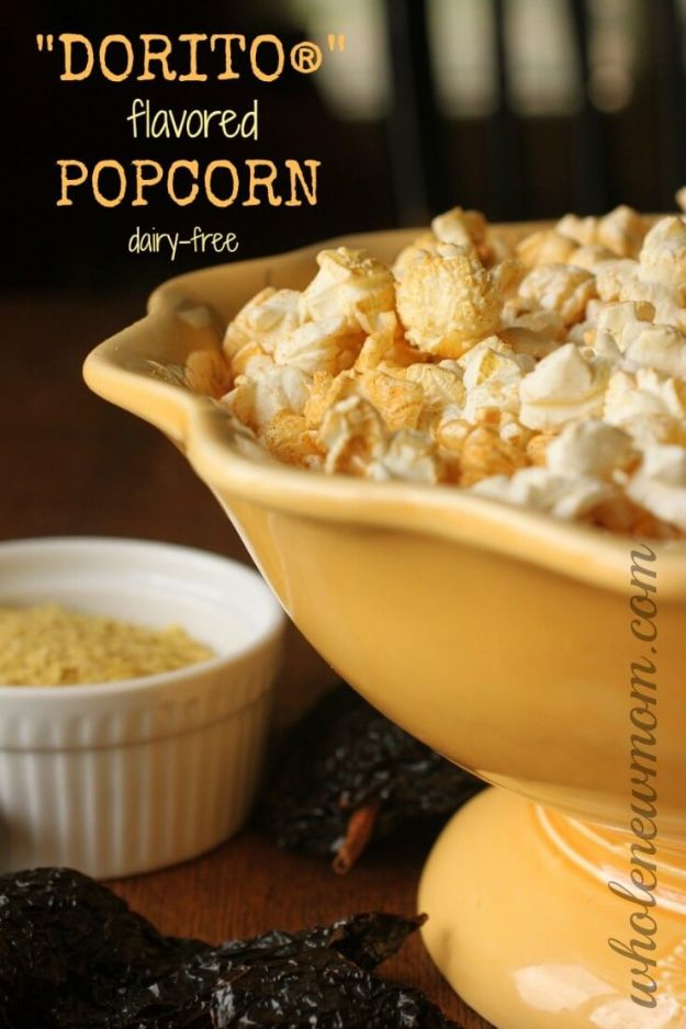 "DIY Recipes Made With Doritos - ""Dorito""-Flavored Popcorn - Best Dorito Recipes for Casserole, Taco Salad, Chicken Dinners, Beef Casseroles, Nachos, Easy Cool Ranch Meals and Ideas for Dips, Snacks and Kids Recipe Tutorials - Quick Lunch Ideas and Recipes for Parties http://diyjoy.com/recipe-ideas-doritos"
