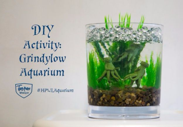 DIY Aquarium Ideas - Grindylow Aquarium - Cool and Easy Decorations for Tank Aquariums, Mason Jar, Wall and Stand Projects for Fish - Creative Background Ideas - Fun Tutorials for Kids to Make With Plants and Decor - Best Home Decor and Crafts by DIY JOY