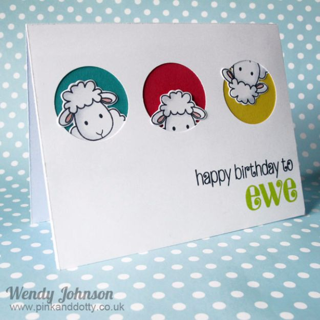 DIY Birthday Cards - Happy Birthday To Ewe - Easy and Cheap Handmade Birthday Cards To Make At Home - Cute Card Projects With Step by Step Tutorials are Perfect for Birthdays for Mom, Dad, Kids and Adults - Pop Up and Folded Cards, Creative Gift Card Holders and Fun Ideas With Cake http://diyjoy.com/diy-birthday-cards