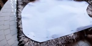 You'll Be Surprised When You See The Adorable Thing She Makes After She Cuts A Pattern Out Of Fur!