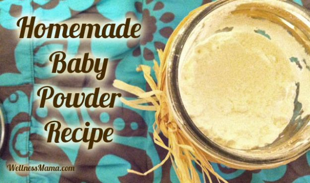 DIY Ideas for Newborn - Homemade All Natural Baby Powder - Do It Yourself Projects for the New Baby Boy or Girl - Nursery and Room Decor, Gear and Products, Safety Ideas and Other Practical Items Make Great DIY Baby Gifts