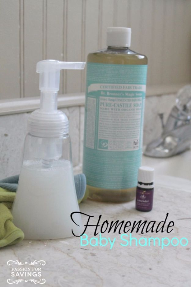 DIY Ideas for Newborn - Homemade Baby Shampoo - Do It Yourself Projects for the New Baby Boy or Girl - Nursery and Room Decor, Gear and Products, Safety Ideas and Other Practical Items Make Great DIY Baby Gifts