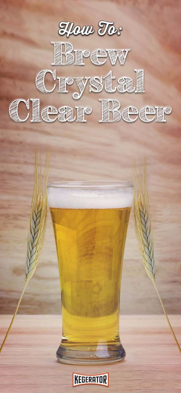 Best Homemade Beer Recipes - Homemade Crystal Clear Beer - Easy Homebrew Drinks and Brewing Tutorials for Craft Beers Made at Home - IPA, Summer, Red, Lager and Ales - Instructions and Step by Step Tutorials for Making Beer at Home http://diyjoy.com/homemade-beer-recipes