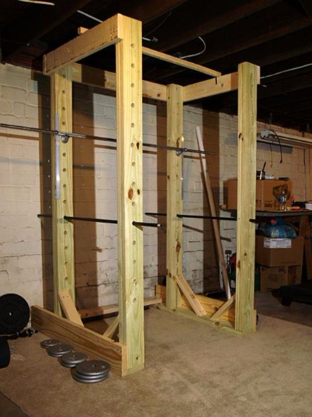 DIY Exercise Equipment Projects - Homemade Power Rack - Homemade Weights and Strength Training Projects - How To Build Simple and Easy Fitness Equipment, Yoga Mats, PVC Pipe Ideas for Butt Workouts, Strength Training and Do It Yourself Workouts At Home t